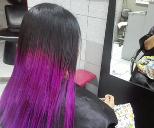 dye, purpple, and purpplehair image