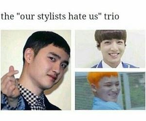 exo, Seventeen, and kpop meme image
