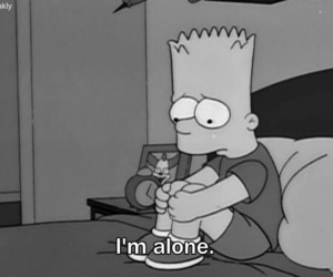 alone, sad, and simpsons image