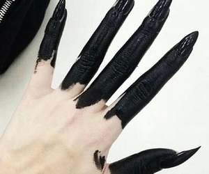 black, macabre, and tumblr image