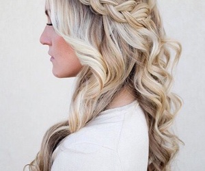 curly hair, fancy, and hairstyles image