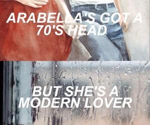 arabella, arctic monkeys, and Lyrics image