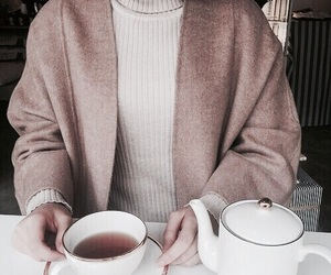 fashion, tea, and coffee image