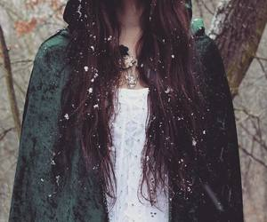 snow and girl image