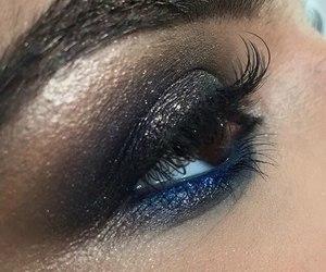 blue, make up, and eyes image