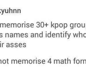kpop, funny, and math image