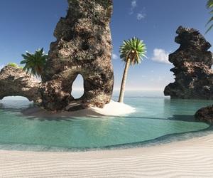beach, tropical, and tropical beaches image