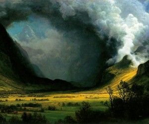 art, landscape, and painting image