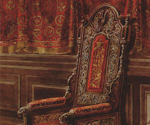 armchair, interior, and medieval image