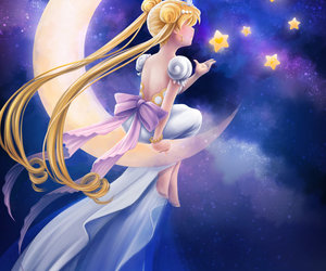 sailor moon, serenity, and princess serenity image