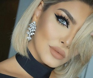 makeup, eyeliner, and hair image