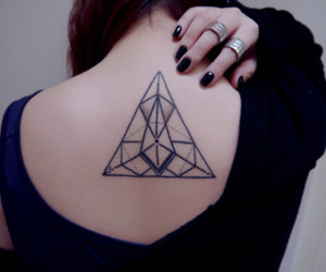 back, ink, and geometric image