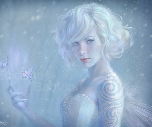 beautiful, cold, and magic image