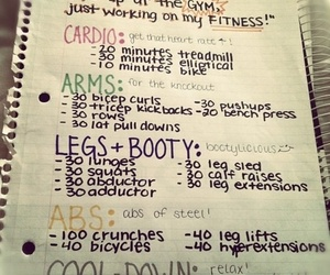 workout, fitness, and cardio image