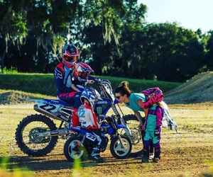 family, dirtbike, and goals image