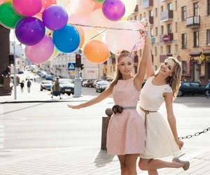 girls, friends, and ballon image