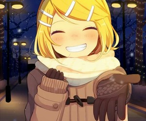 vocaloid, kagamine rin, and winter image