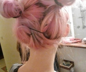 dyed hair, pink hair, and hair image