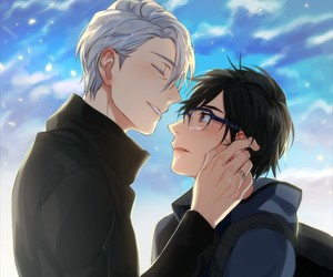anime, yuri on ice, and victuuri image
