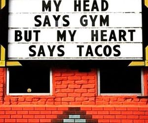 gym, tacos, and funny image