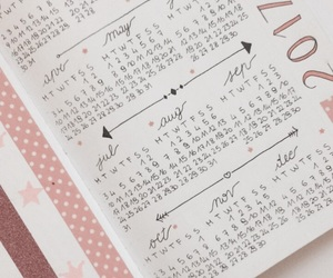 aesthetic, calendar, and dots image