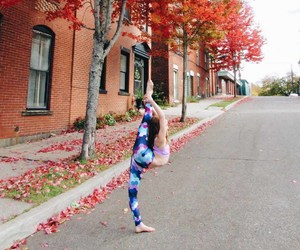 autumn, backbend, and ballerina image