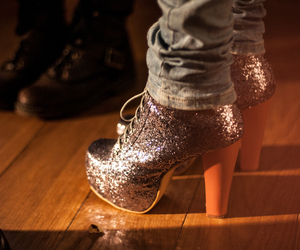 sequins and shoes image