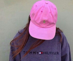 pink, tommy hilfiger, and style image