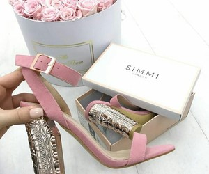 pink shoes and simmi shoes image