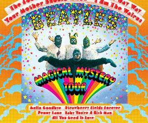 the beatles, magical mystery tour, and music image
