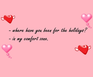comfort zone, hearts, and introvert image