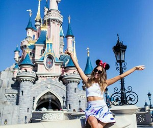 disney, castle, and outfit image
