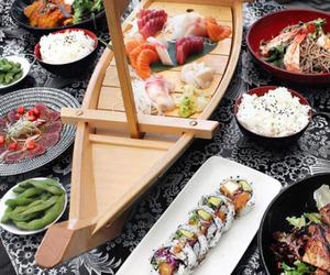 food, sushi, and tasty image