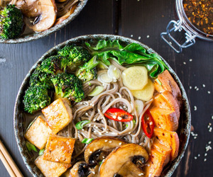 ramen, tofu, and food image
