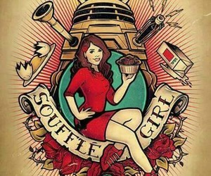 doctor who, Dalek, and souffle girl image