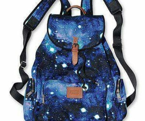 galaxy, backpack, and bag image