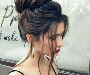 beauty, bun, and black image