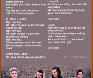 Lyrics, one direction, and love you goodbye image
