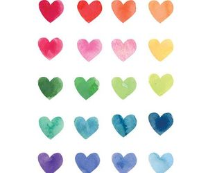 heart, colors, and hearts image