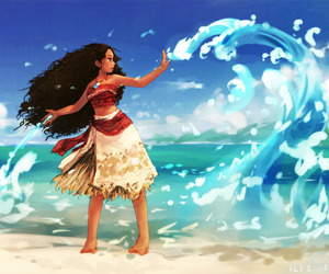 disney, ocean, and moana image
