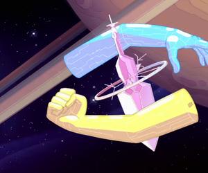 blue diamond, yellow diamond, and steven universe image