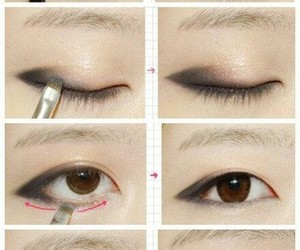 makeup, tutorial, and korean image