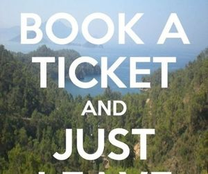 travel, leave, and ticket image