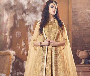 partywear, womenwear, and anarkali suits image