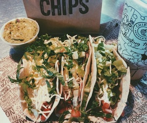 food, chips, and tacos image