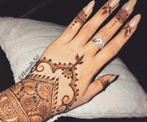 beautiful, henna, and love image
