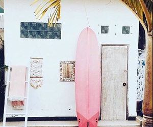 summer, pink, and surf image