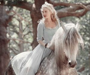 cinderella, lily james, and horse image