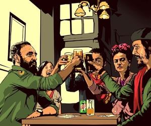 Che Guevara, cuba, and Frida image