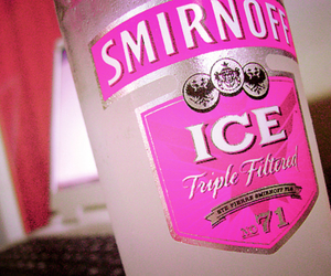 smirnoff, pink, and drink image